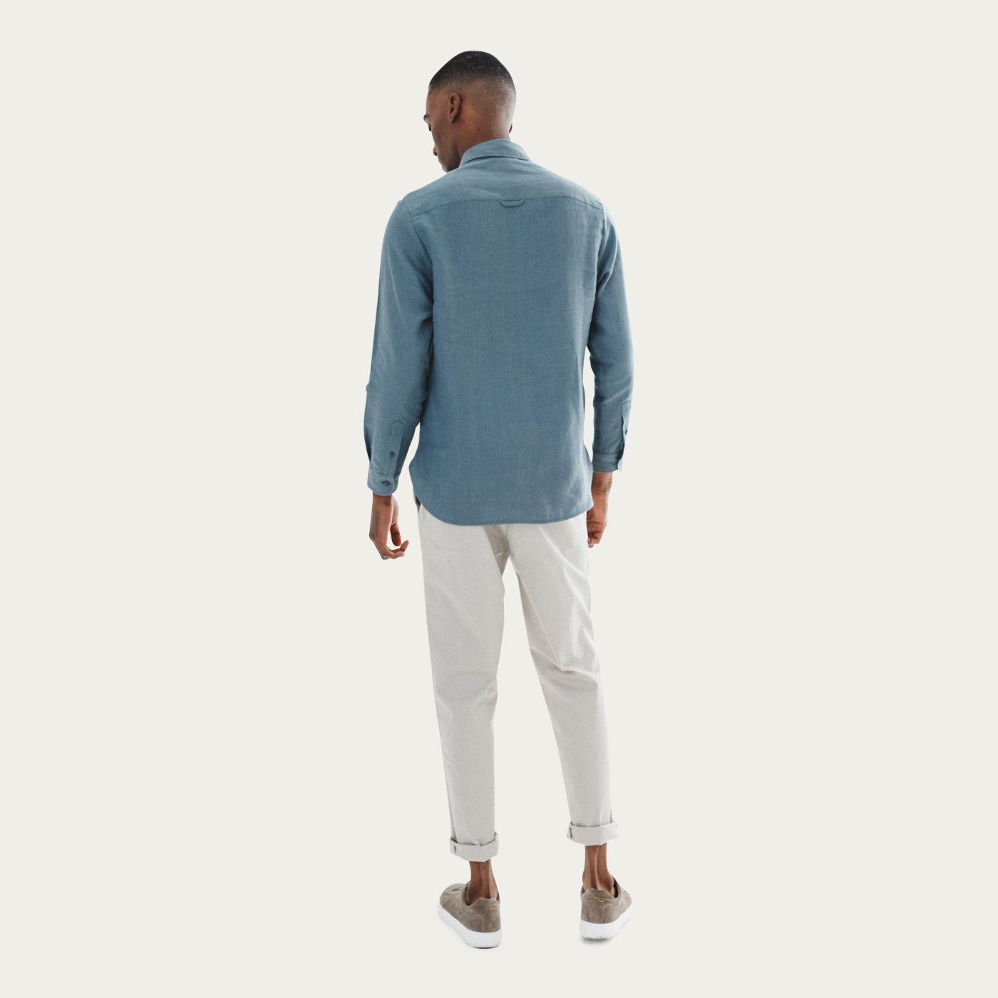 Blue Mana Linen Shirt | Bombinate