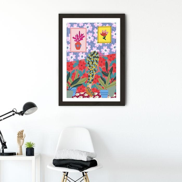 I'm Always Looking for Something Art Print Black Frame | Bombinate