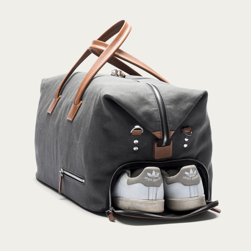 Lundi Gray Cognac Traveler Bag Remington