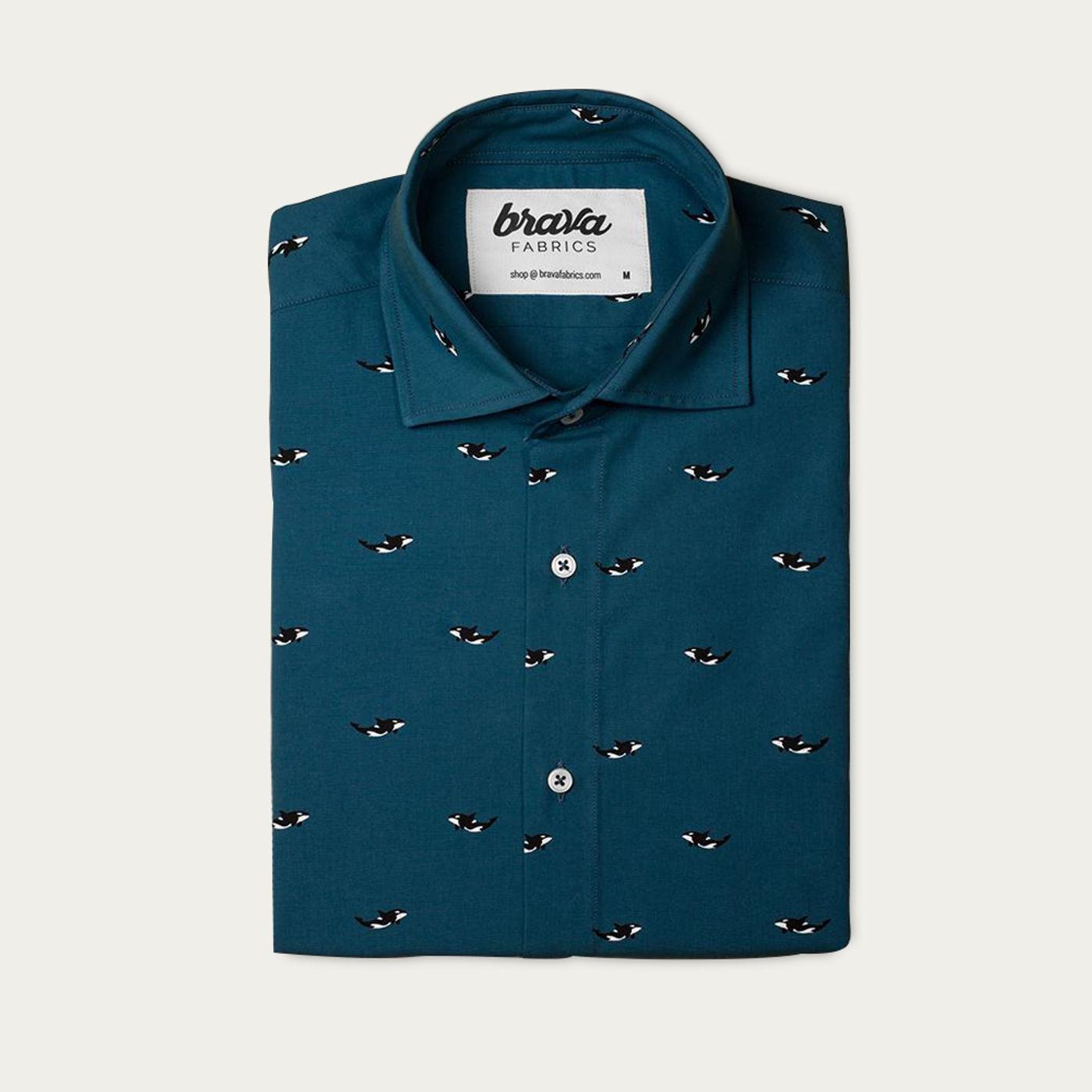 Blue Arctic Orca Printed Shirt   Bombinate