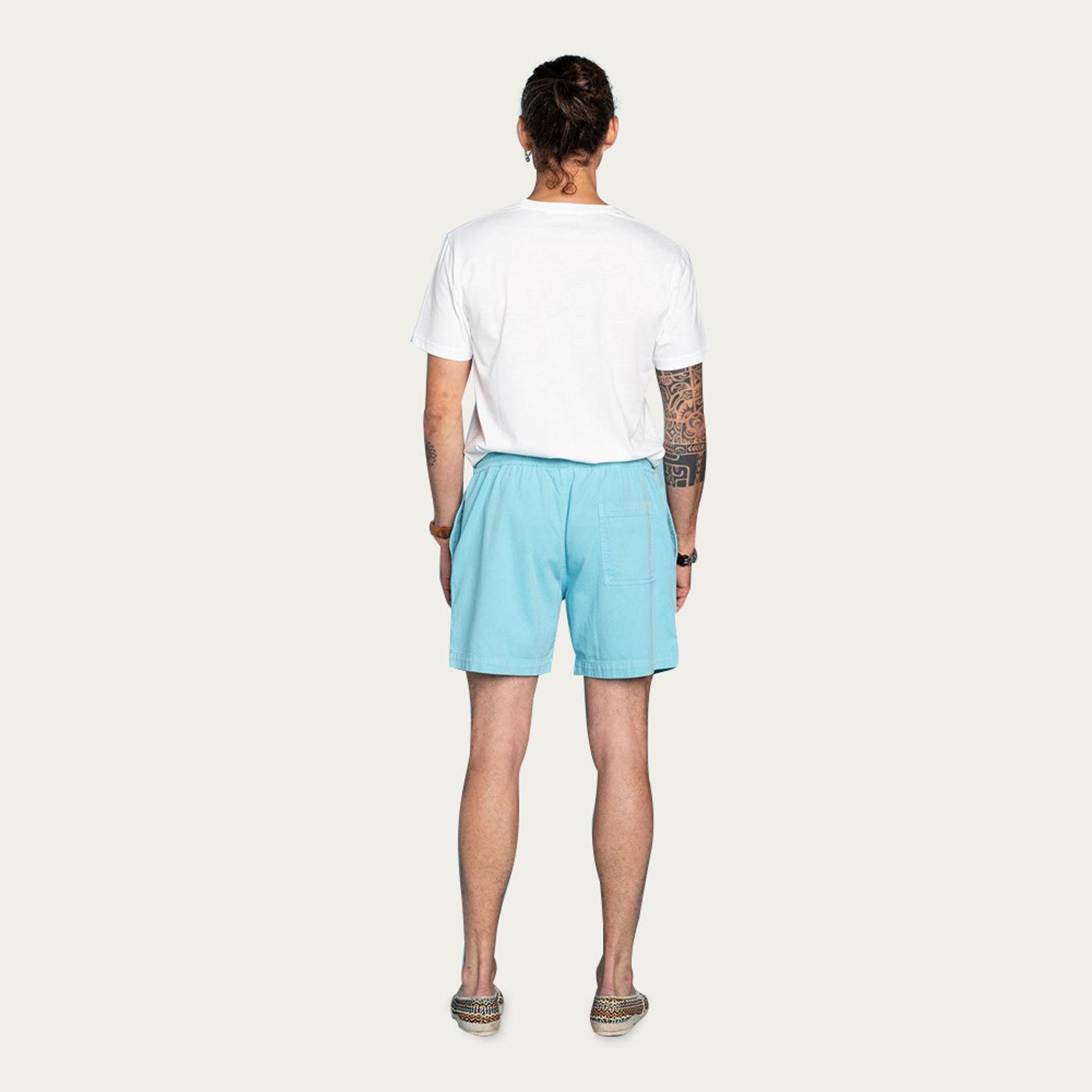 Pastel Blue Cotton Bodhi Shorts   Bombinate
