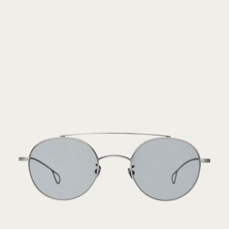 d1d861cebc Drill Silver Frame With Gradient Grey Lenses Sunglasses
