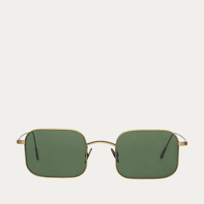 Bronze / Bottle Green Lenses Flare Sunglasses    Bombinate