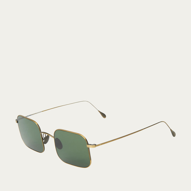 Bronze / Bottle Green Lenses Flare Sunglasses  | Bombinate