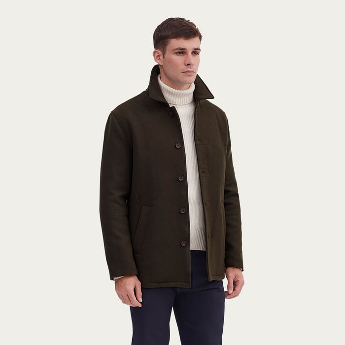 Dark Green Pea Coat | Bombinate