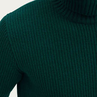 Forest Wool Rib Rollneck | Bombinate
