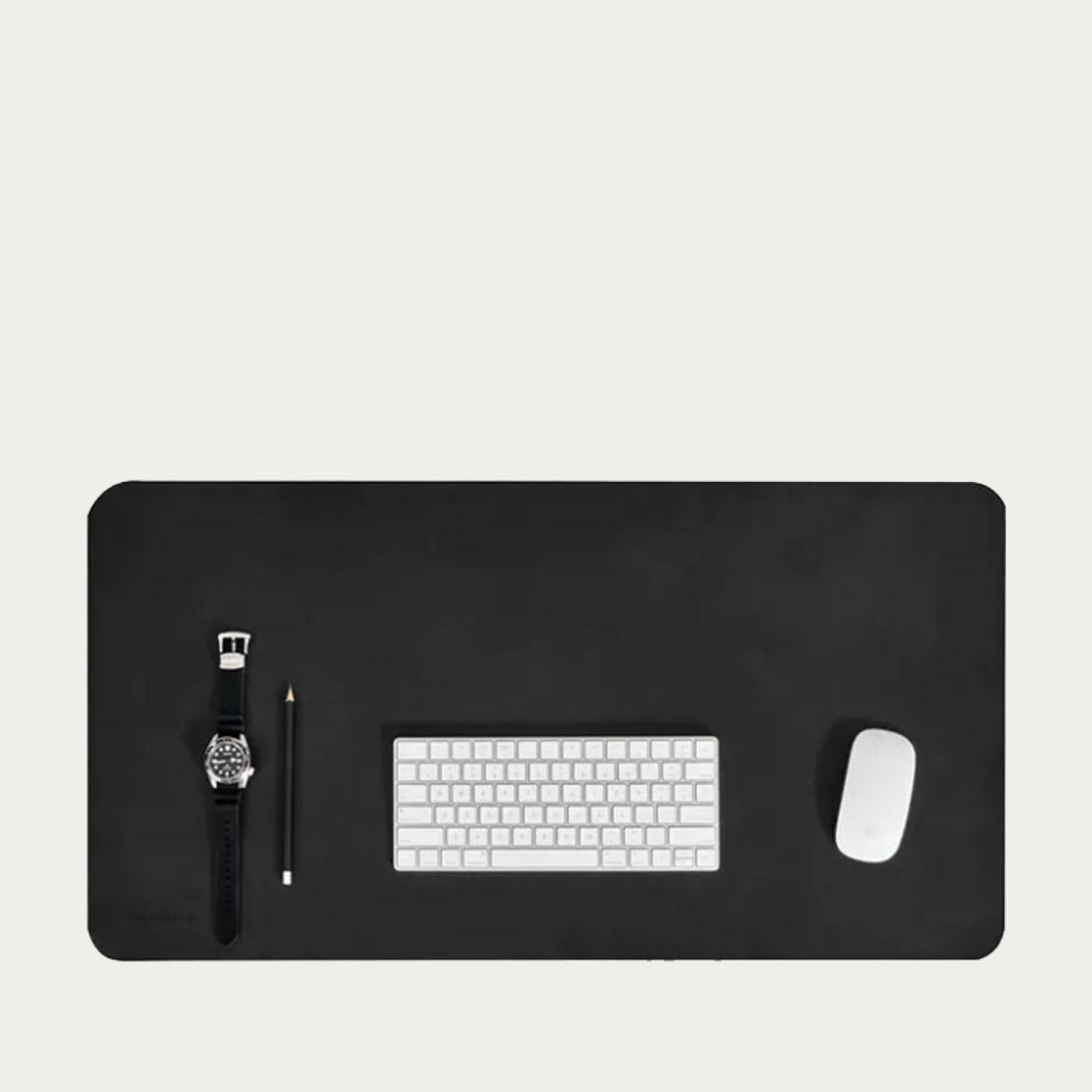 Black Desk Mat   Bombinate