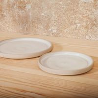 Large Otto Plate White  - Set of two | Bombinate