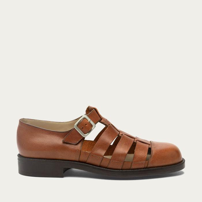 Brick Dimori Oak Leather Sandals | Bombinate