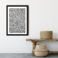 Pebble Beach Art Print Black Frame | Bombinate