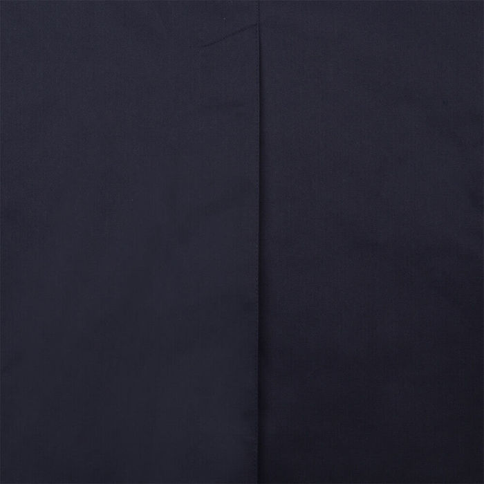 Navy Long Dong Gabardine With Removable Vest   Bombinate