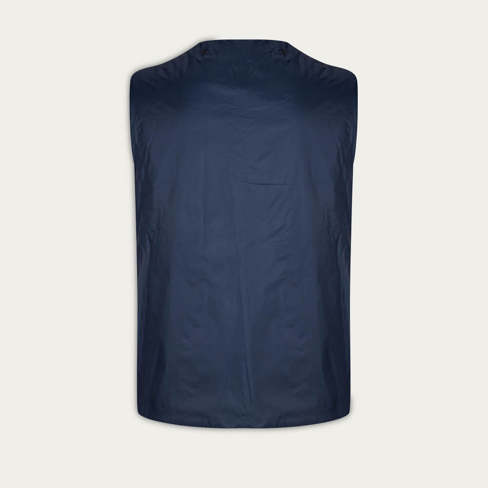 Navy Long Dong Gabardine With Removable Vest | Bombinate