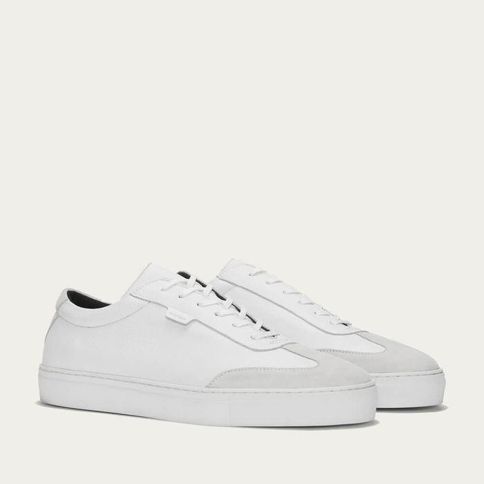 White Leather Series 3 Sneakers | Bombinate