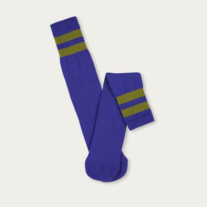Clematis Blue/Olive Unisex Tube Socks   Bombinate