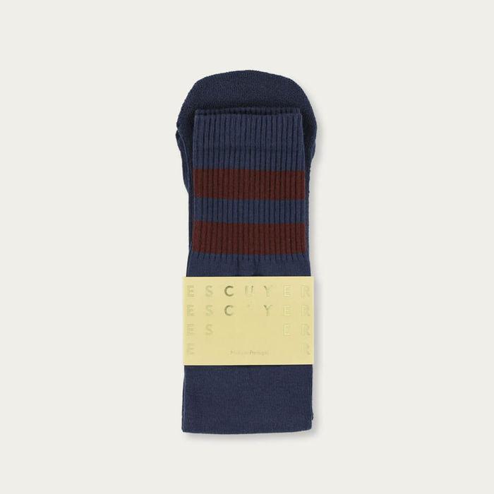 Crown Blue/Russet Brown Unisex Tube Socks | Bombinate