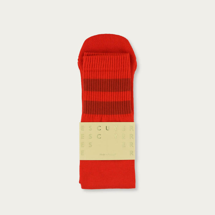 Molten Lava/Gold Flame Unisex Tube Socks | Bombinate