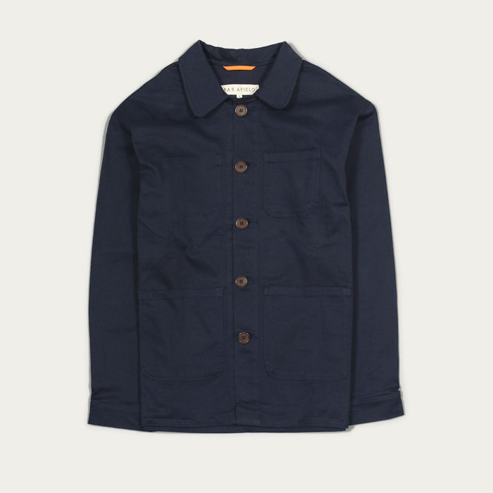 Ensign Blue Cotton Twill Station Jacket  | Bombinate