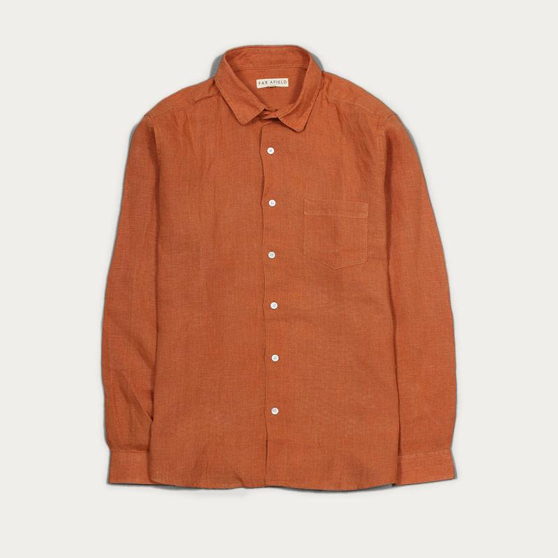 Cashew Linen Classic L/S Shirt  | Bombinate