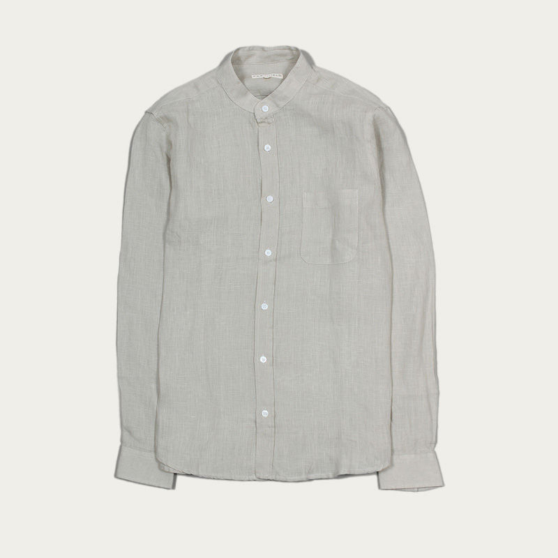 Agate Grey Linen Twombly L/S Shirt  | Bombinate