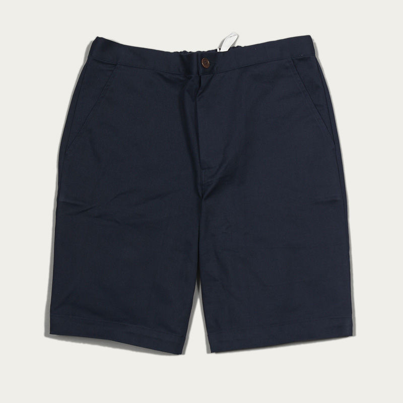 Ensign Blue Cotton Twill Drawstring Shorts  | Bombinate