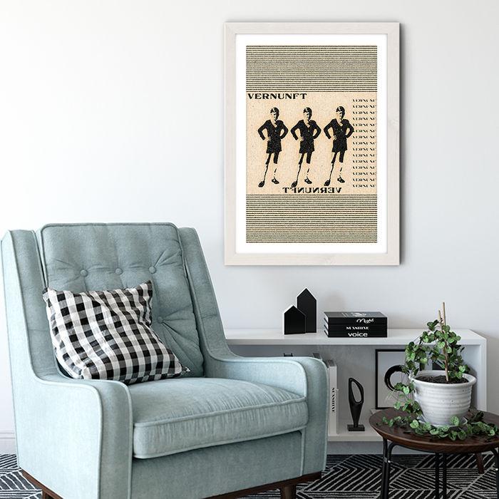 Die Vernunft Art Print White Frame   Bombinate