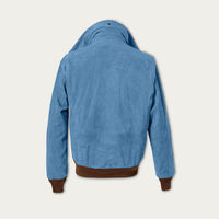 Blue Newman G-1 Suede Bomber Jacket MTO | Bombinate