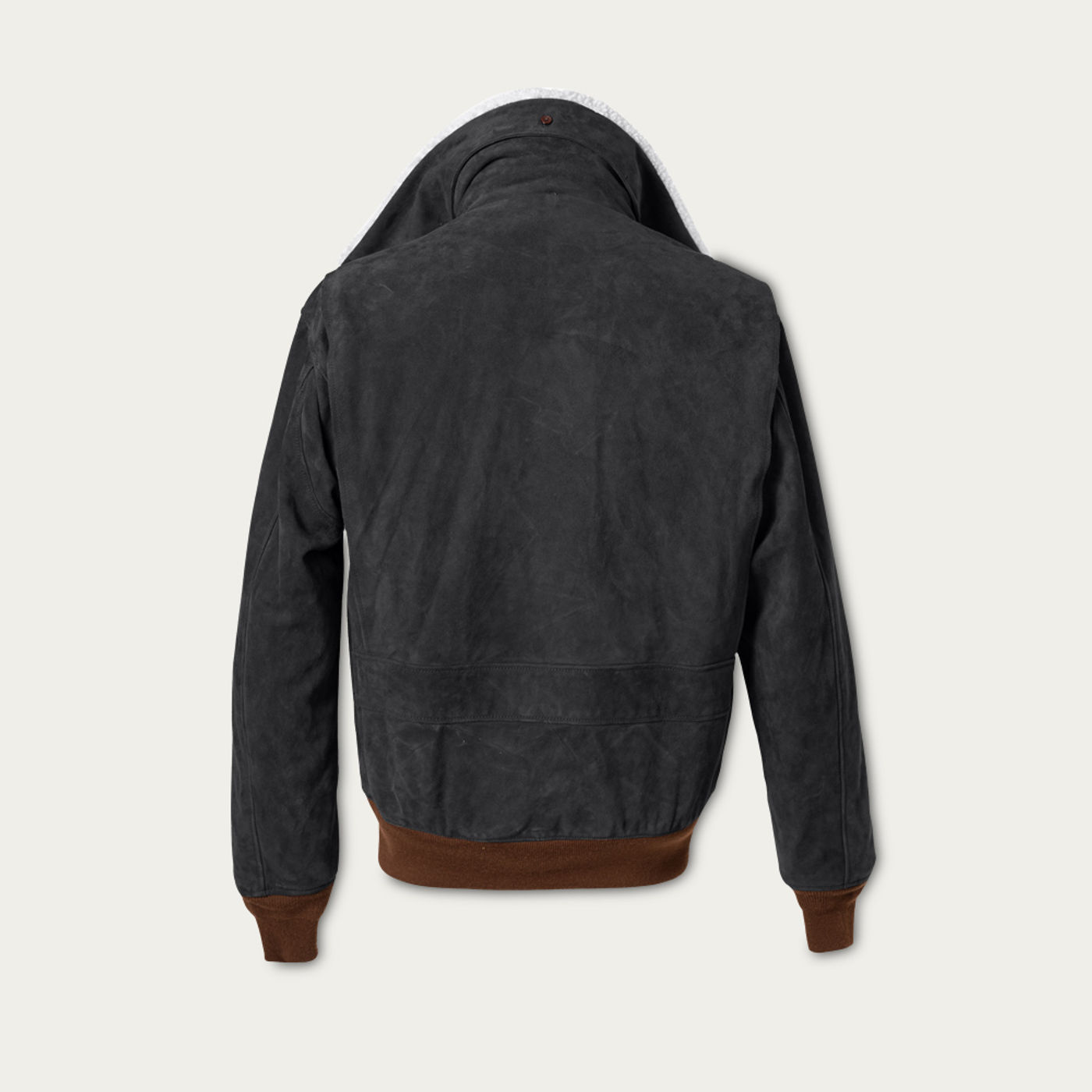 Charcoal Newman G-1 Suede Bomber Jacket MTO | Bombinate
