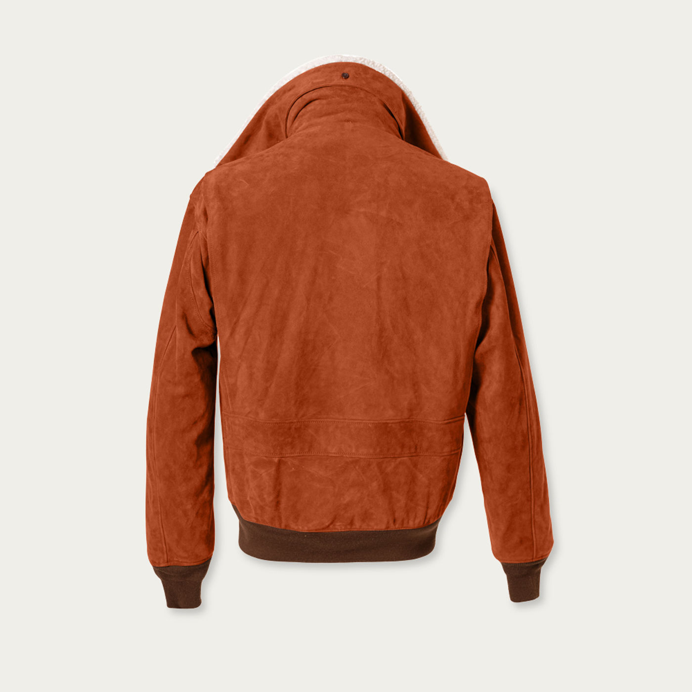 Tobacco Newman G-1 Suede Bomber Jacket MTO   Bombinate