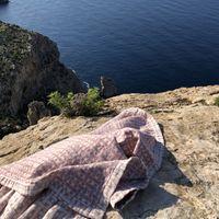 Red Lido Beach Towel Plaid | Bombinate