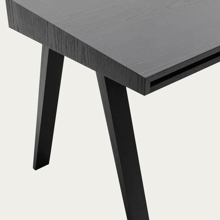 Ash Painted Black 1 Drawer 4.9 Desk | Bombinate
