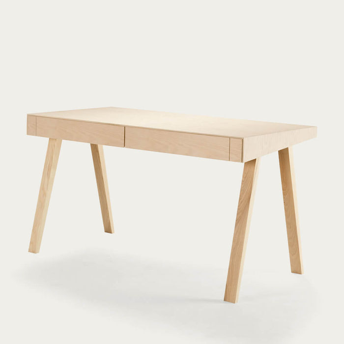 European Ash 2 Drawers 4.9 Desk | Bombinate
