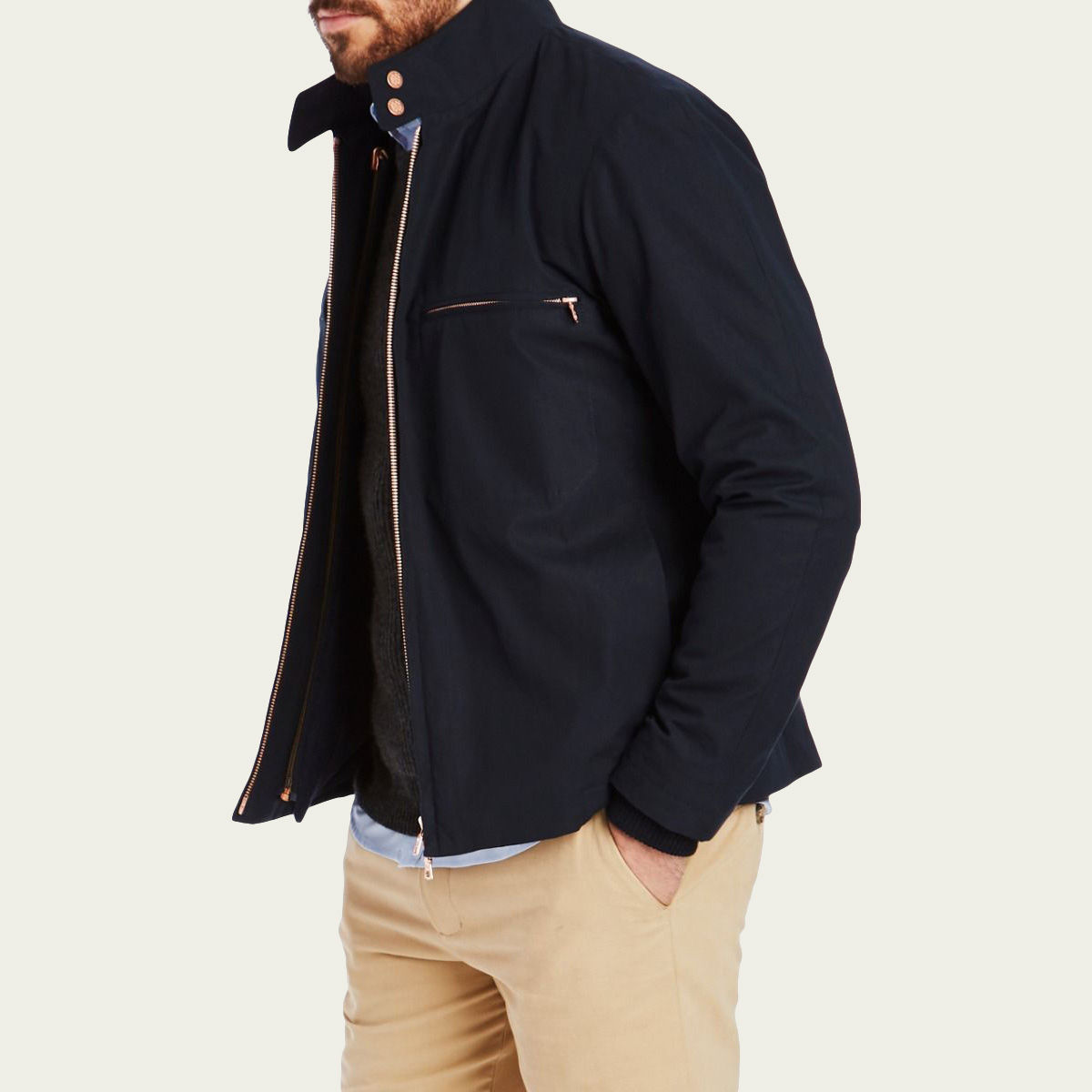 Navy Jaguar Driving Jacket  | Bombinate