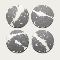 Grey/White Splatter Concrete Coasters - Set of 4   Bombinate