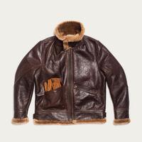 Brown Aviatore B-3 Seal Shearling Jacket | Bombinate