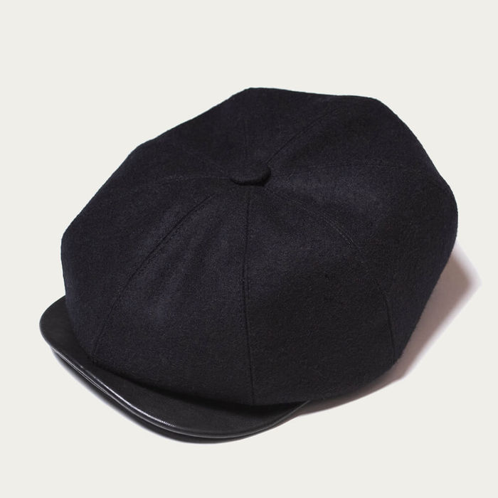 Navy Blue Outlaw Wool 8 Panel Riders Cap | Bombinate