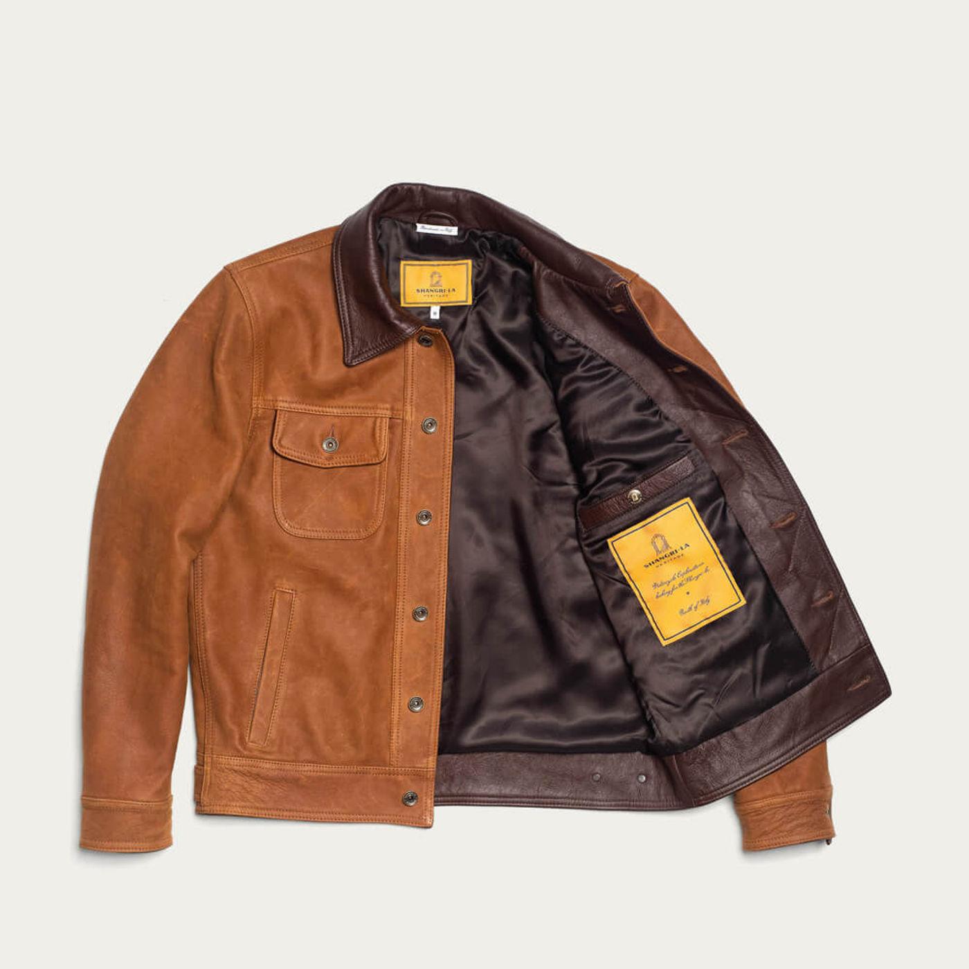 Cognac Terracotta Western Jacket | Bombinate