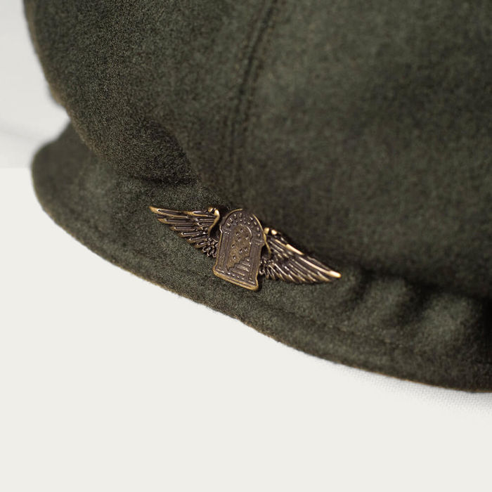 Forest Green Outlaw Wool 8 Panel Riders Cap | Bombinate