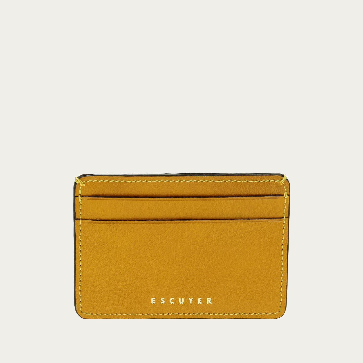 5c66ef20a9 Escuyer | Yellow Leather Cardholder