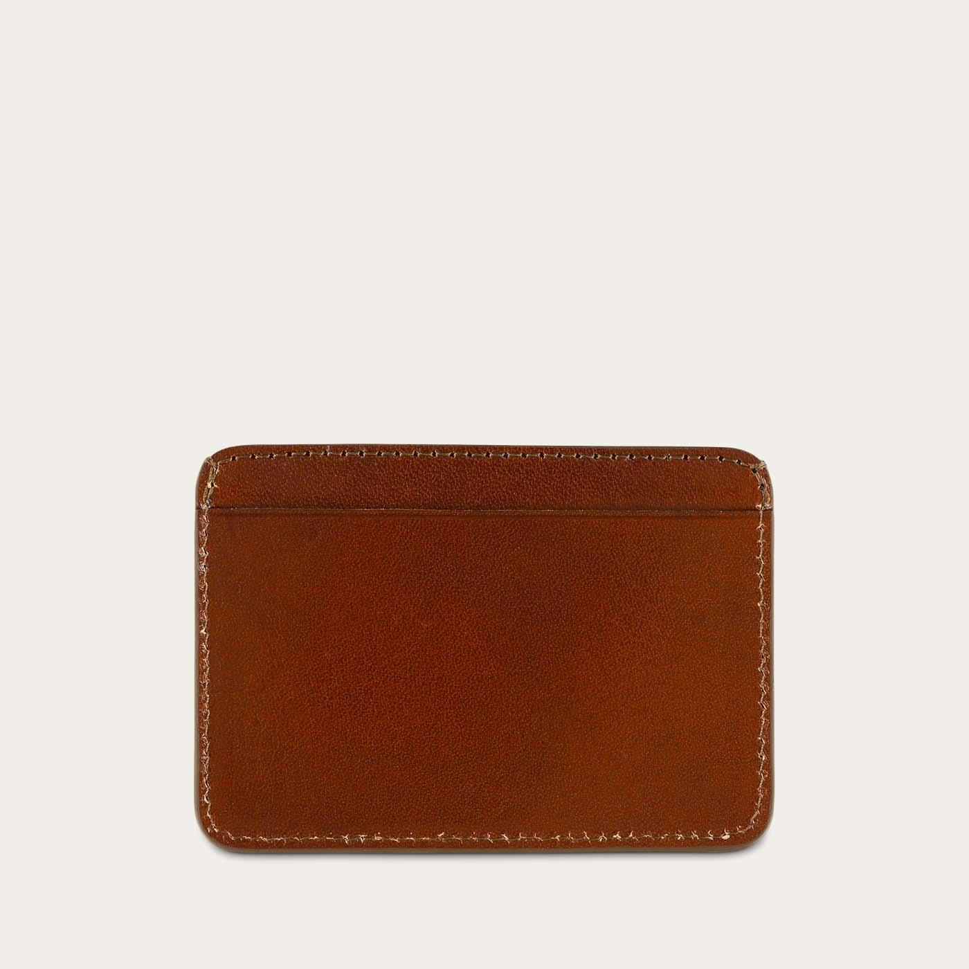 Light Brown Leather Cardholder  | Bombinate