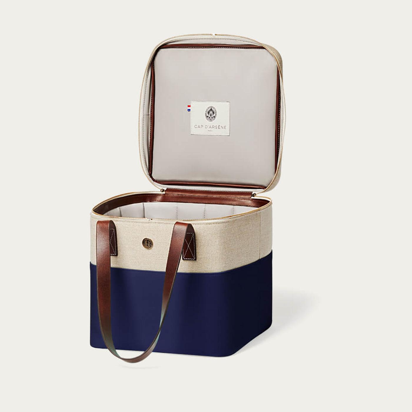 Navy Blue Picnic Cooler Bag | Bombinate