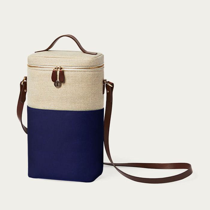 Navy Blue Double Bottle Cooler Bag | Bombinate