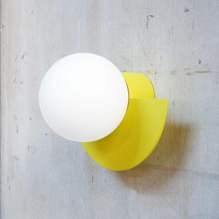 Sunshine Yellow C.Lamp with Cord and Dimmer Switch  | Bombinate
