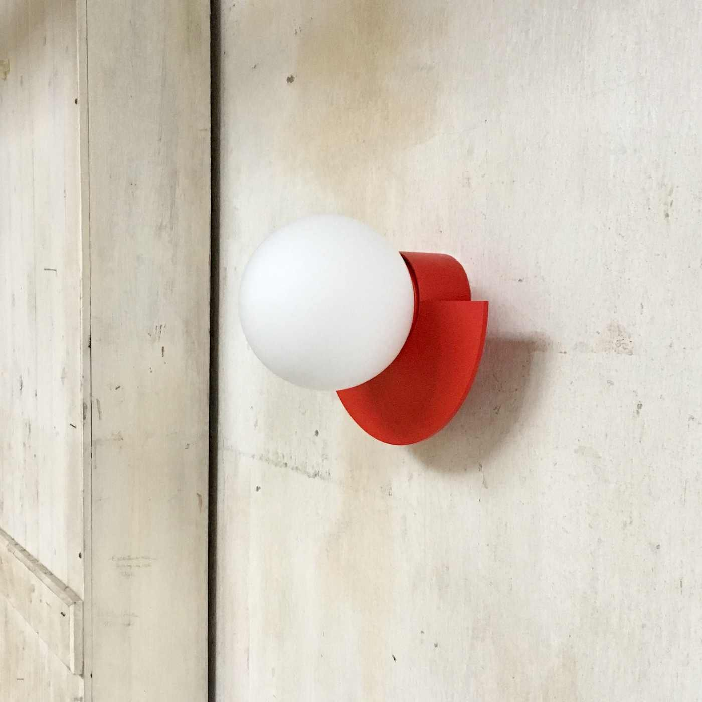 Strawberry Red C.Lamp with Cord and Dimmer Switch  | Bombinate