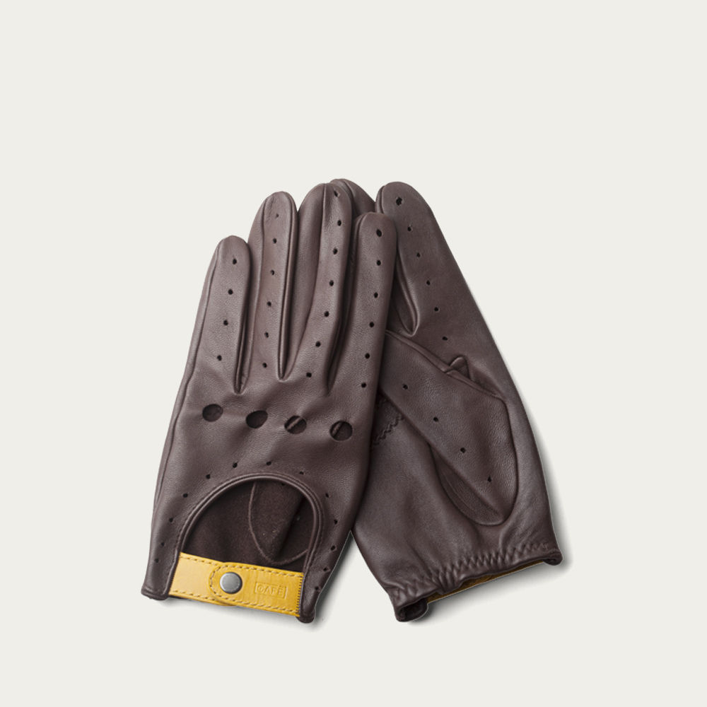 Black Coffee Triton Driving Gloves  | Bombinate