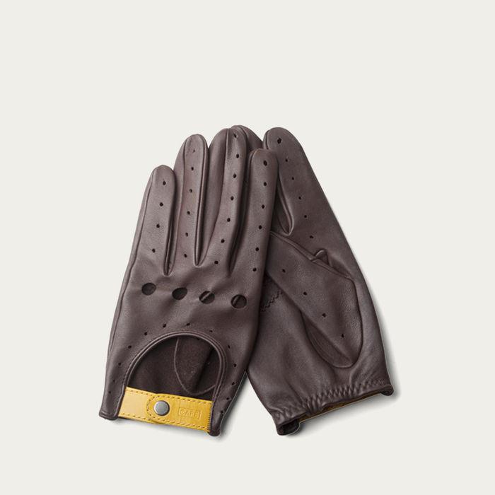 Black Coffee Triton Driving Gloves  | Bombinate