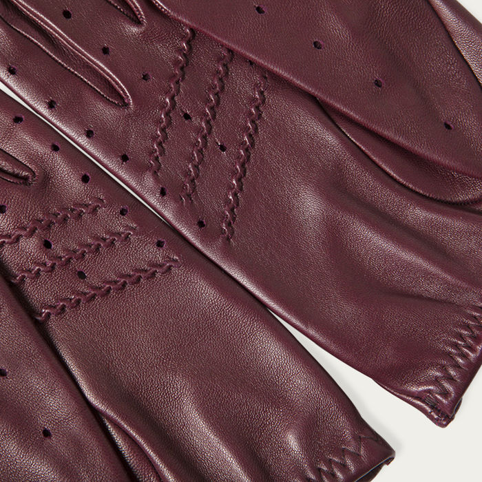 Burgundy Triton Driving Gloves  | Bombinate