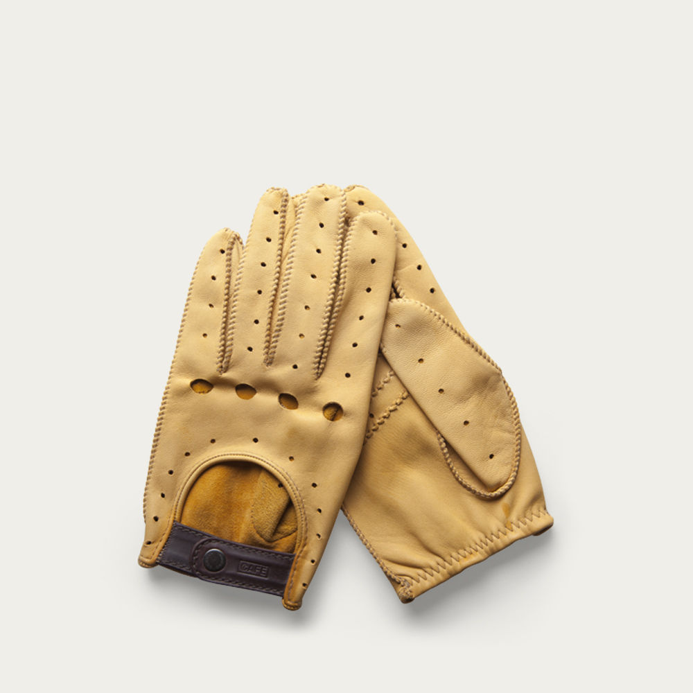 Cream Triton Driving Gloves  | Bombinate