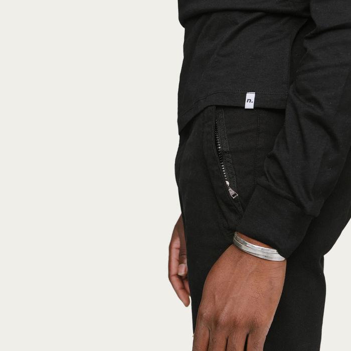 Black Zip Pocket Chino   Bombinate
