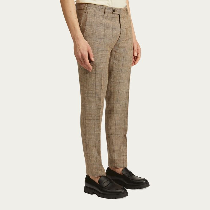 Brown Linen Bowery Trousers | Bombinate
