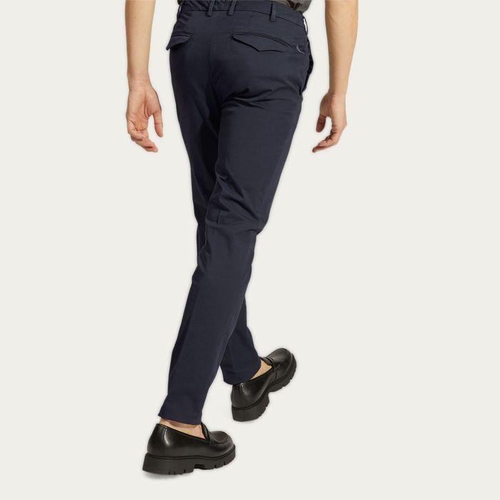 Blue Cotton Gabardine Marais Trousers | Bombinate